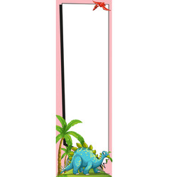 banner template with blue dinosaur vector image