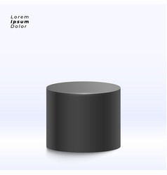 Black display stand on studio background vector