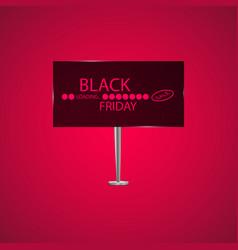 black friday on the billboard and progress loading vector image