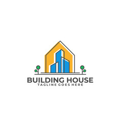 building house design template vector image