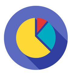business pie chart flat icon modern style vector image
