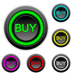 Buy buttons set vector