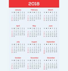 calendar design 2018 vector image