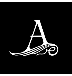 Capital Letter A for Monograms Emblems and Logos vector image