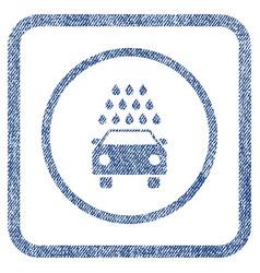 Car wash fabric textured icon vector