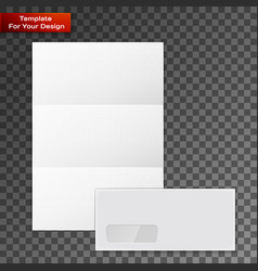 collection various blank white paper vector image