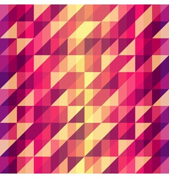 Colorful geometric retro pattern vector
