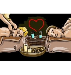 Couple man and woman in massage saloon vector image