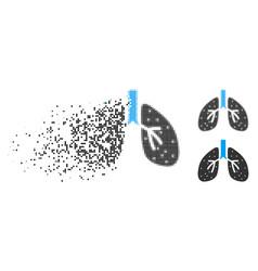 disintegrating dot halftone respiratory system vector image