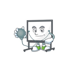 Doctor white board for a teaching equipment vector