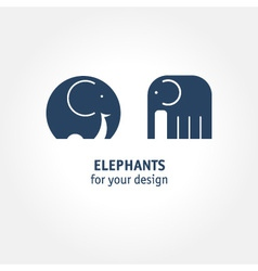 Elephant icons vector