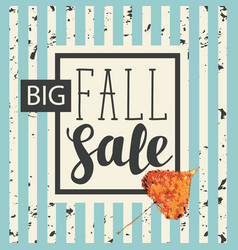 fall sale design with yellowed poplar leaf vector image