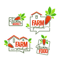 Farm product simple logo template emblems and vector