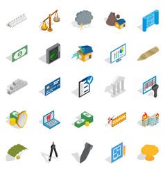 Feedback loop icons set isometric style vector
