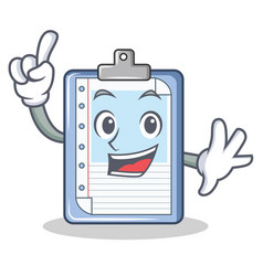 finger clipboard character cartoon style vector image