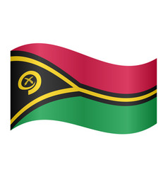 flag of vanuatu waving on white background vector image