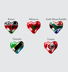 Flags of african countries the flags of kenya vector