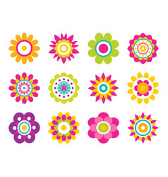 flowers blooming collection vector image