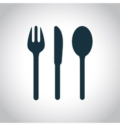 Fork knife spoon icon vector