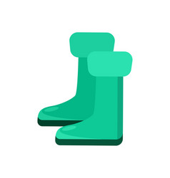 garden rubber boots isolated icon vector image