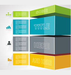 Geometric timeline infographic design for new vector