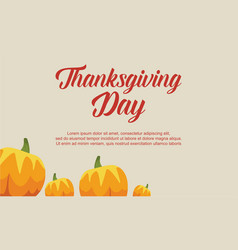 Greeting card of thanksgiving day vector