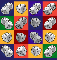 Group tool set of combinations of poker dice vector