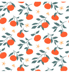hand drawn colorful seamless pattern vector image