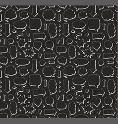 Hand drawn seamless pattern of speech bubbles vector
