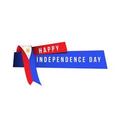 Happy independence day logo template design vector