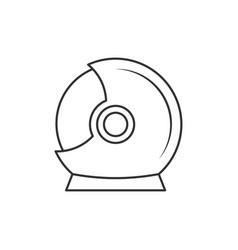 helmet astronaut icon vector image