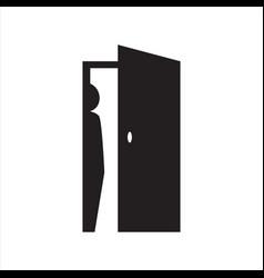 Hide person logo design silhouette people vector