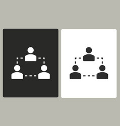 human interaction - icon vector image