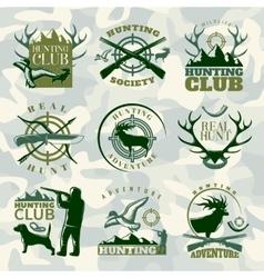Hunting Emblem Set In Color vector