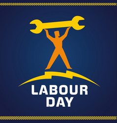 labor day workman vector image