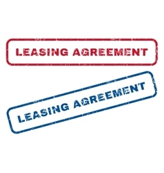 Leasing Agreement Rubber Stamps vector
