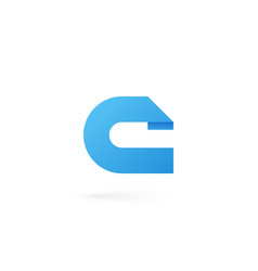 letter c logo on white alphabet background vector image