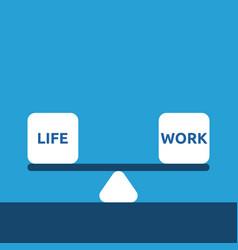 life and work balance vector image