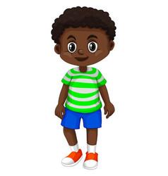 Little boy from haiti vector