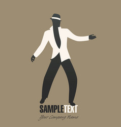 Man silhouette dancing jazz or latin music vector