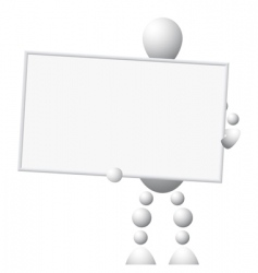 man with empty board vector image