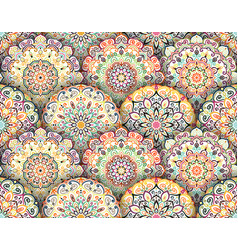 Mandala pattern with shadows vector