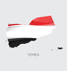map of yemen vector image