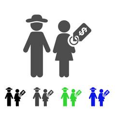Marriage of convenience icon vector