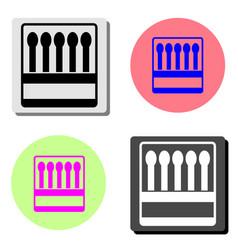 matchbox flat icon vector image