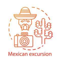 Mexican excursion concept icon south american vector