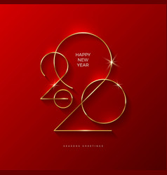 New year greeting card design vector