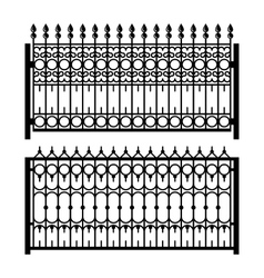 Old Style Decorative Iron Fences Set vector image