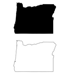 Oregon or state map usa vector