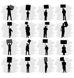 people holding sign vector image